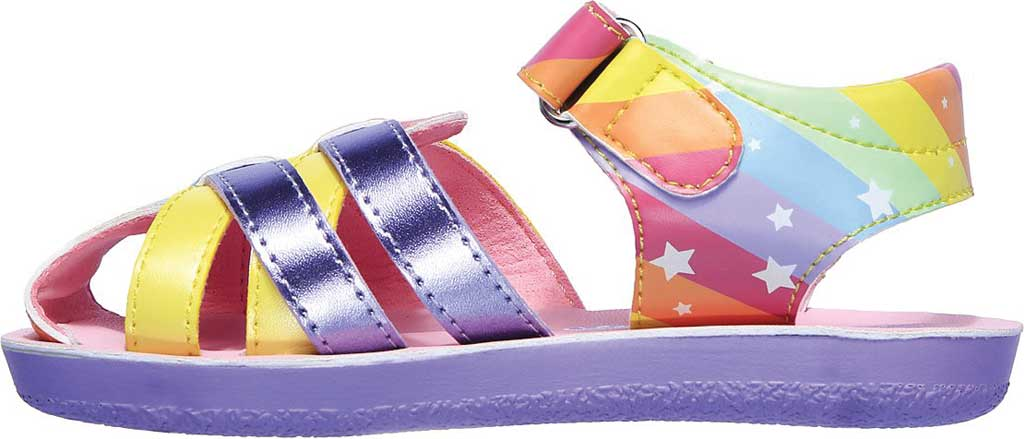 Infant Girls' Skechers Buttercups Catching Stars Sandal, Lavender/Multi, large, image 3