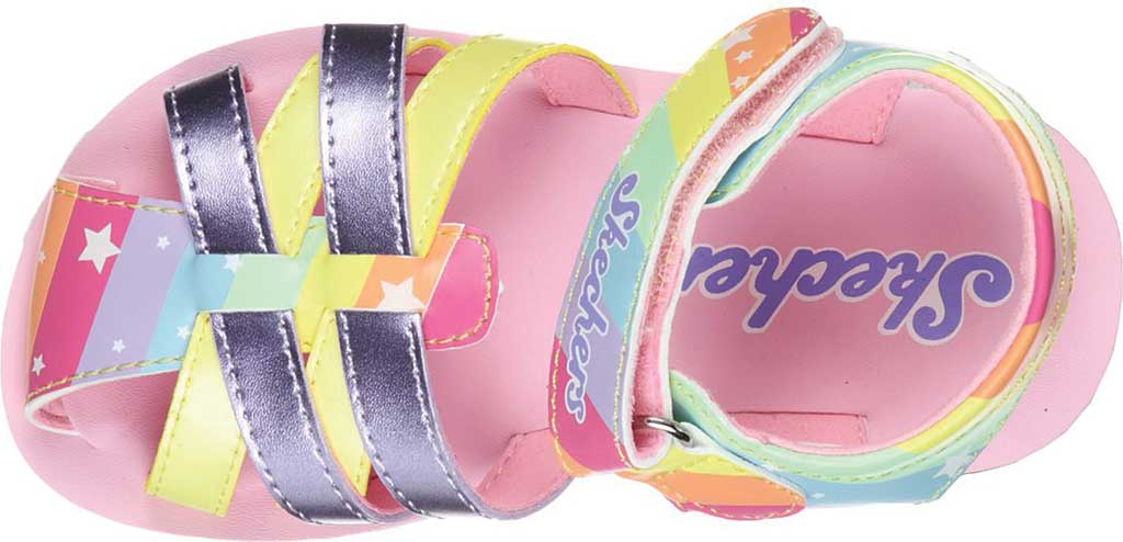 Infant Girls' Skechers Buttercups Catching Stars Sandal, Lavender/Multi, large, image 4