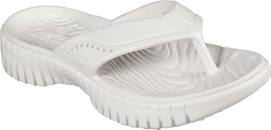 Women's Skechers Foamies GOwalk Smart Mahalo Flip Flop, White, large, image 1
