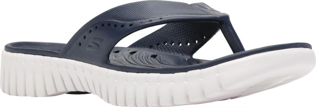 Women's Skechers Foamies GOwalk Smart Mahalo Flip Flop, Navy, large, image 1