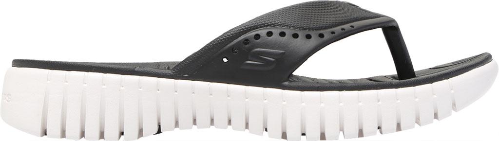 Women's Skechers Foamies GOwalk Smart Mahalo Flip Flop, Black/White, large, image 2