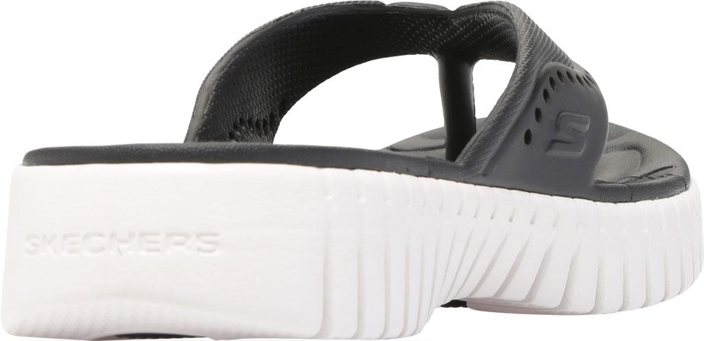 Women's Skechers Foamies GOwalk Smart Mahalo Flip Flop, Black/White, large, image 4