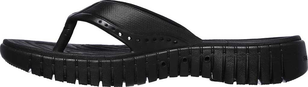 Women's Skechers Foamies GOwalk Smart Mahalo Flip Flop, Black/Black, large, image 3