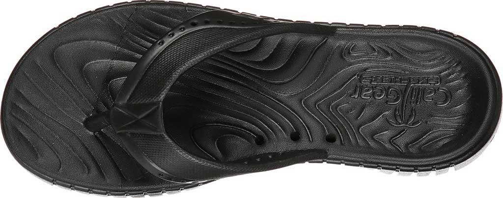 Women's Skechers Foamies GOwalk Smart Mahalo Flip Flop, Black/Black, large, image 4