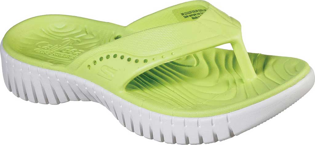 Women's Skechers Foamies GOwalk Smart Mahalo Flip Flop, Lime, large, image 1