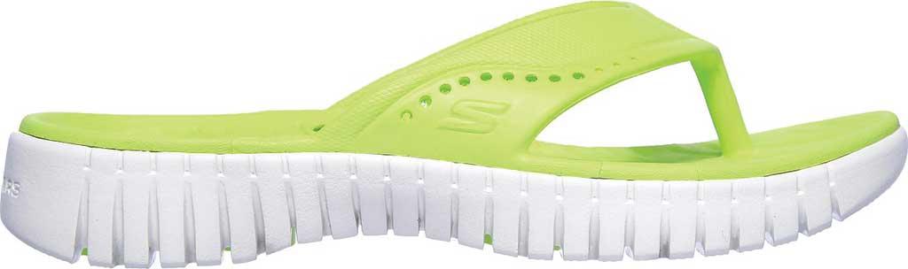 Women's Skechers Foamies GOwalk Smart Mahalo Flip Flop, Lime, large, image 2