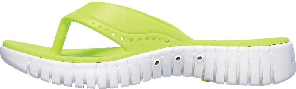 Women's Skechers Foamies GOwalk Smart Mahalo Flip Flop, Lime, large, image 3