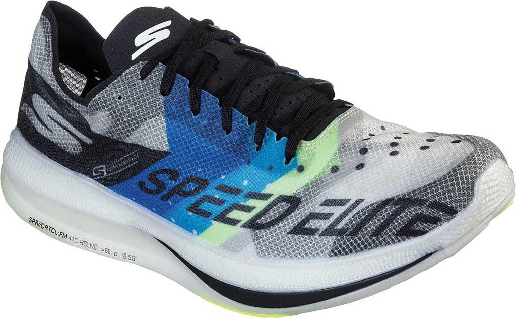 Men's Skechers GOrun Speed Elite Hyper Running Shoe, Black/Blue, large, image 1