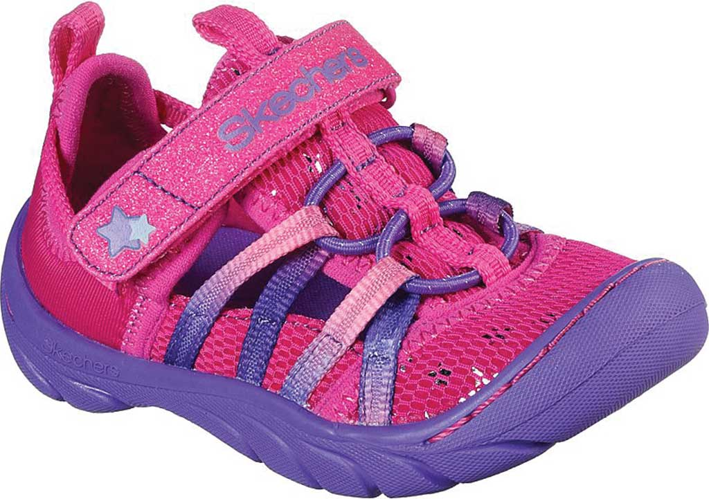 Infant Girls' Skechers Summer Steps Humble Cutie Closed Toe Sandal, Hot Pink/Purple, large, image 1
