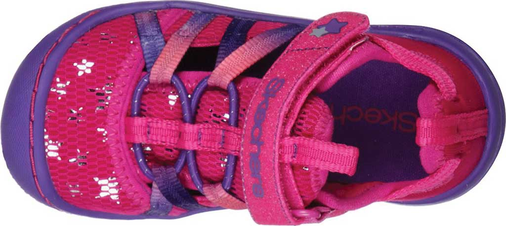Infant Girls' Skechers Summer Steps Humble Cutie Closed Toe Sandal, Hot Pink/Purple, large, image 4