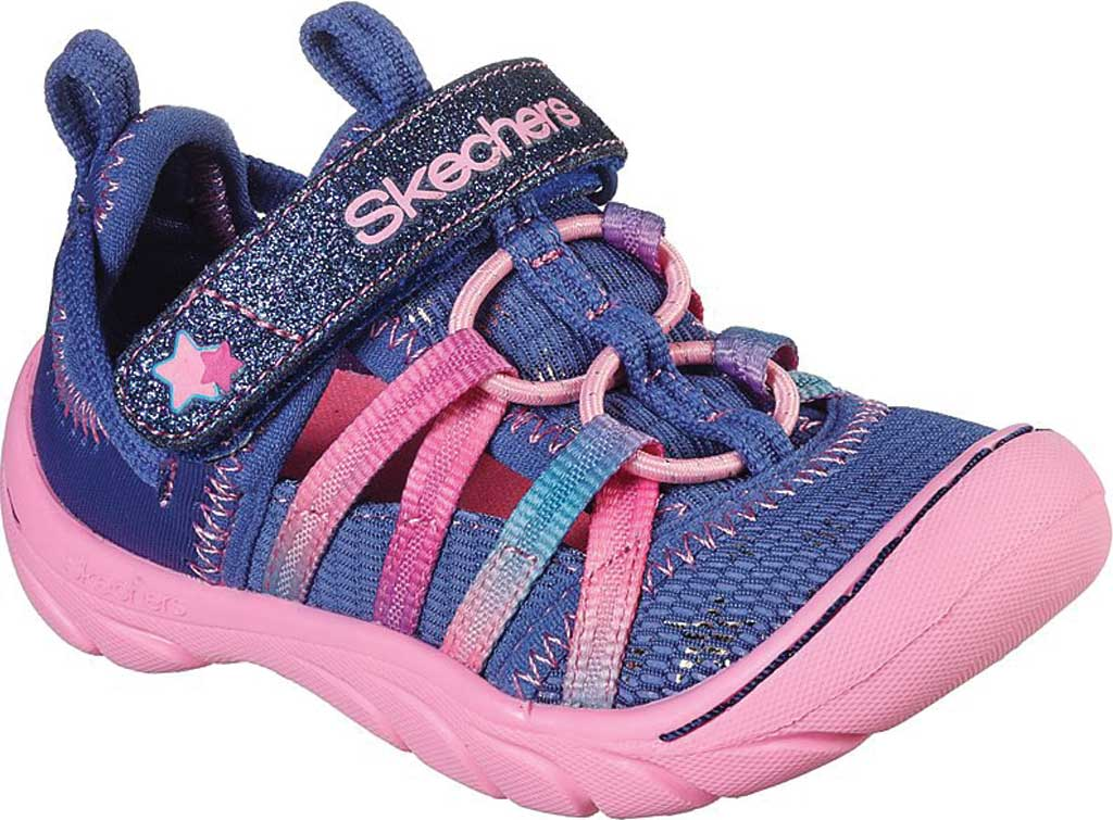 Infant Girls' Skechers Summer Steps Humble Cutie Closed Toe Sandal, Navy/Pink, large, image 1