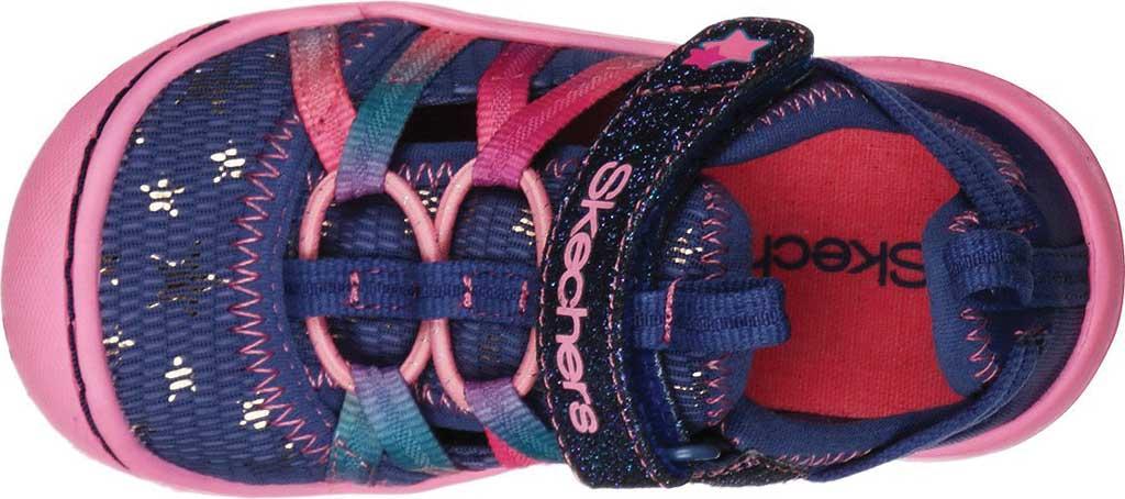 Infant Girls' Skechers Summer Steps Humble Cutie Closed Toe Sandal, Navy/Pink, large, image 4