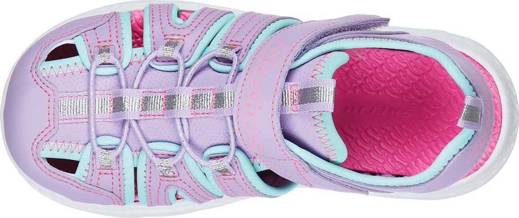 Girls' Skechers C-Flex Sandal 2.0 Playful Trek Fisherman Sandal, Lavender/Aqua, large, image 4