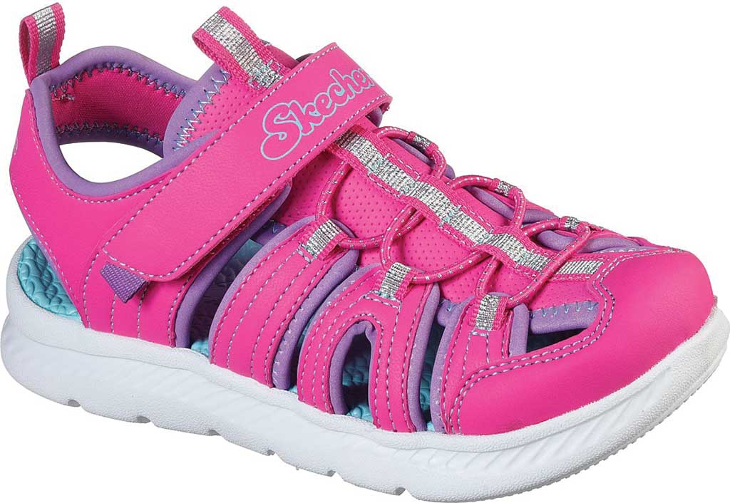 Girls' Skechers C-Flex Sandal 2.0 Playful Trek Fisherman Sandal, Hot Pink, large, image 1