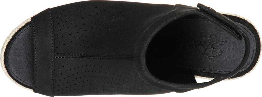 Women's Skechers Indigo Sky Love Dust Espadrille Wedge, Black, large, image 4