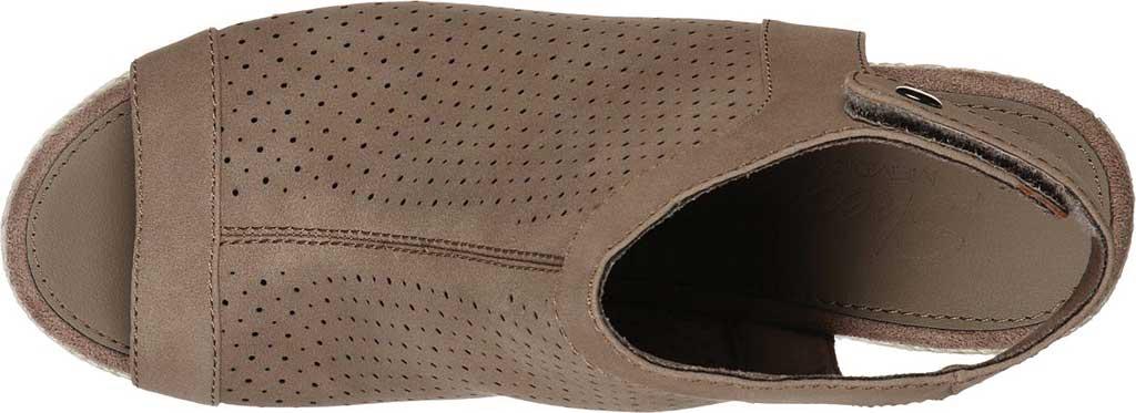 Women's Skechers Indigo Sky Love Dust Espadrille Wedge, Taupe, large, image 4