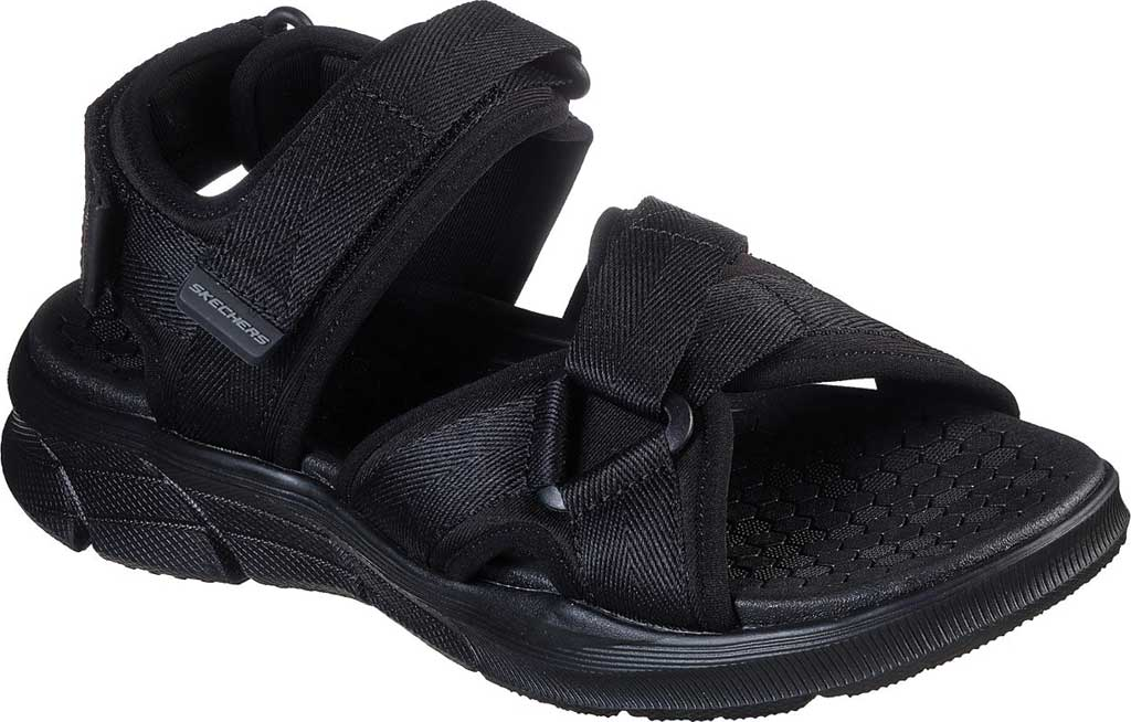 Men's Skechers Equalizer 4.0 Tolgus Sport Sandal, Black/Black, large, image 1