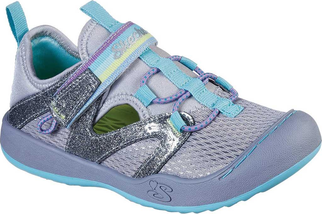 Girls' Skechers Summer Steps 2.0 Closed Toe Sandal, Gray/Multi, large, image 1