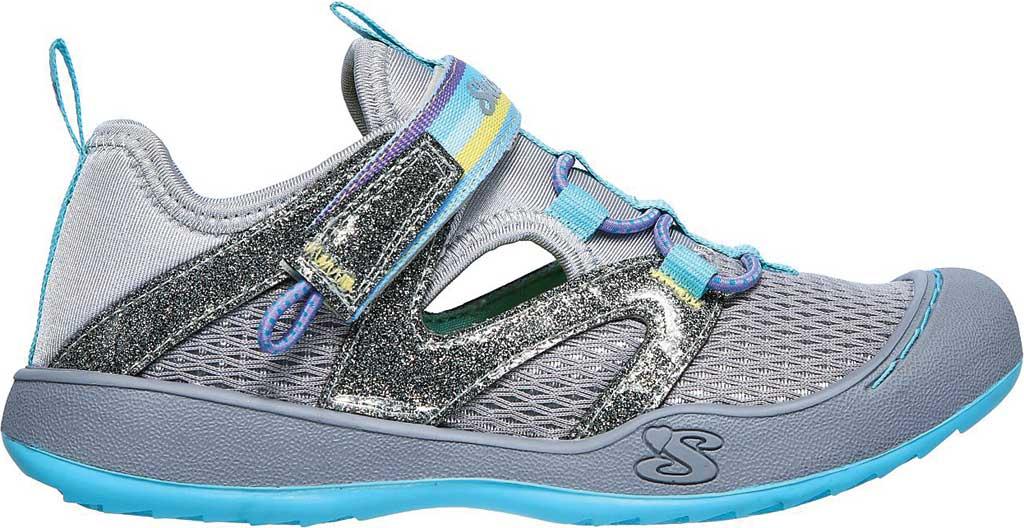 Girls' Skechers Summer Steps 2.0 Closed Toe Sandal, Gray/Multi, large, image 2