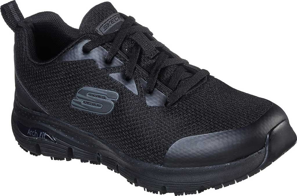 Women's Skechers Work Arch Fit SR Sneaker, Black, large, image 1