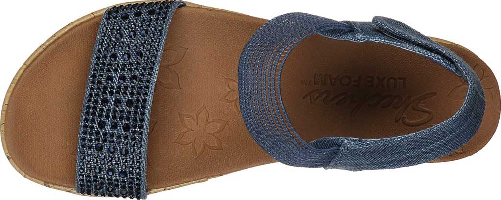Women's Skechers Beverlee Pretty Chic Wedge Sandal, Navy, large, image 4