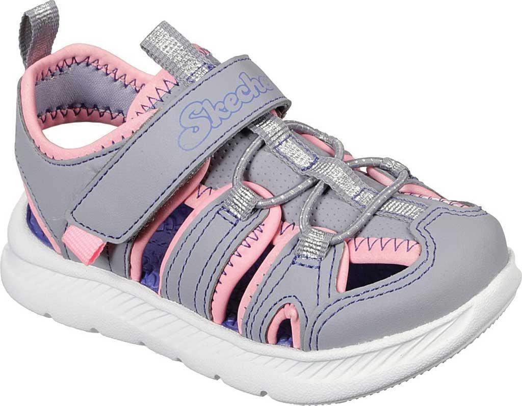 Infant Girls' Skechers C-Flex Sandal 2.0 Playful Trek Fisherman Sandal, Gray/Pink, large, image 1