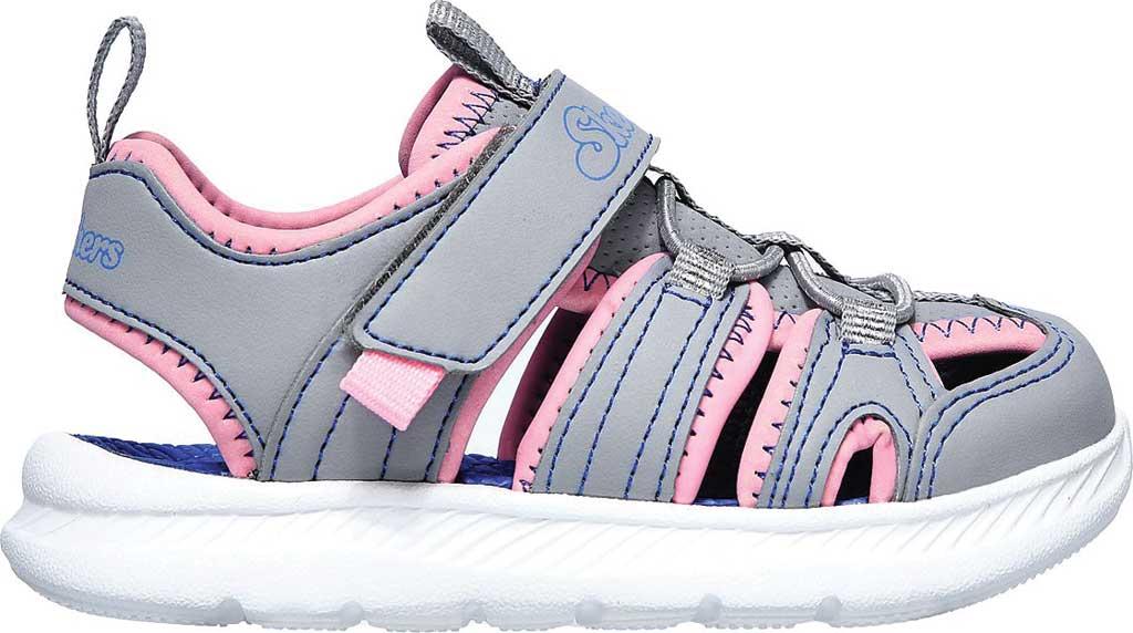 Infant Girls' Skechers C-Flex Sandal 2.0 Playful Trek Fisherman Sandal, Gray/Pink, large, image 2