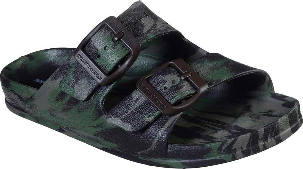 Boys' Skechers Foamies Cali Blast Two Strap Slide, Camouflage, large, image 1