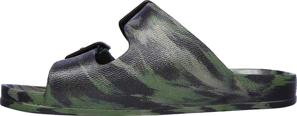 Boys' Skechers Foamies Cali Blast Two Strap Slide, Camouflage, large, image 3