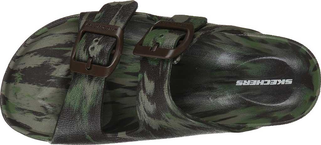 Boys' Skechers Foamies Cali Blast Two Strap Slide, Camouflage, large, image 4