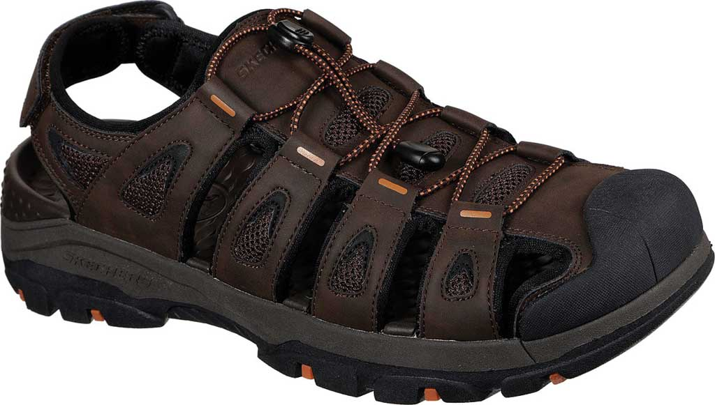 Men's Skechers Relaxed Fit Tresmen Outseen Fisherman Sandal, Chocolate, large, image 1
