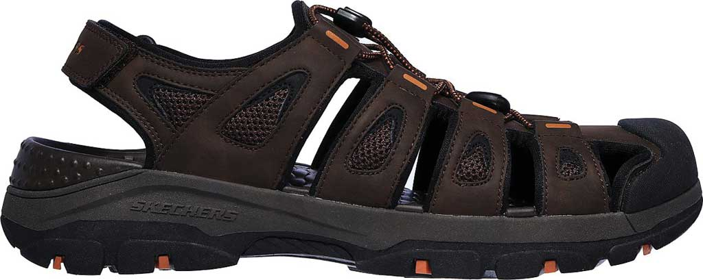 Men's Skechers Relaxed Fit Tresmen Outseen Fisherman Sandal, Chocolate, large, image 2