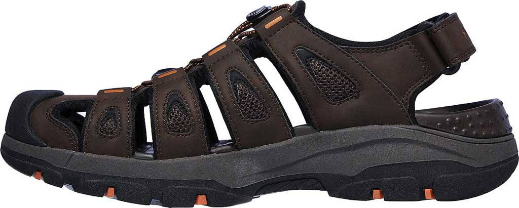 Men's Skechers Relaxed Fit Tresmen Outseen Fisherman Sandal, Chocolate, large, image 3