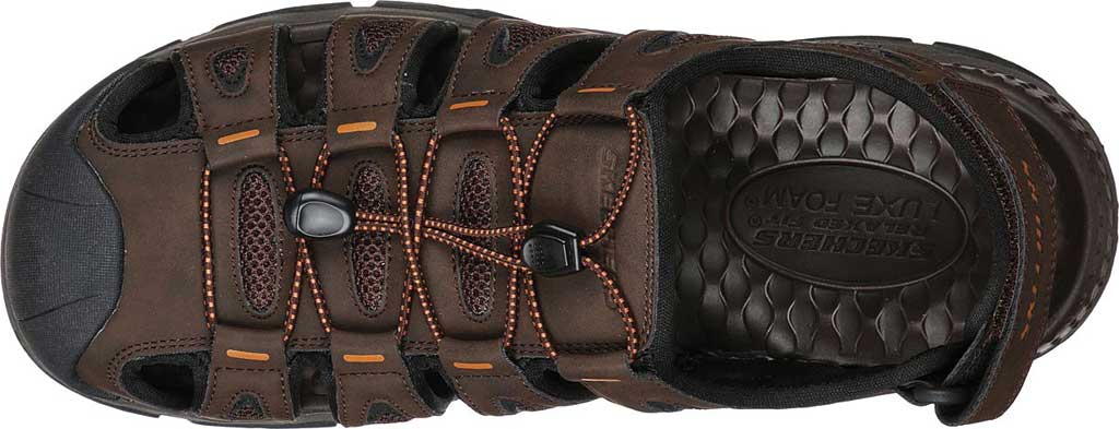 Men's Skechers Relaxed Fit Tresmen Outseen Fisherman Sandal, Chocolate, large, image 4