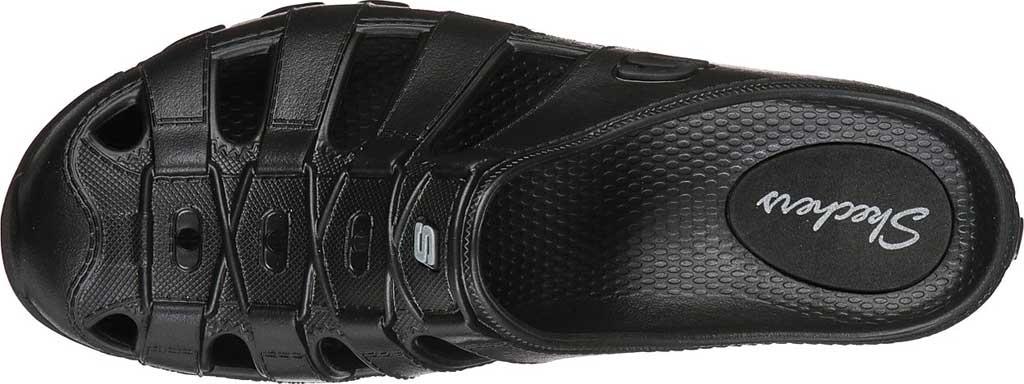 Women's Skechers Foamies Speedsters Meander Mule, Black/Black, large, image 4