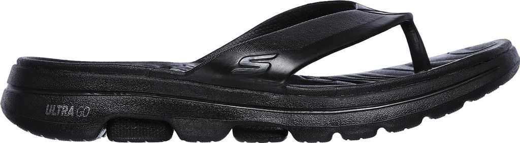 Men's Skechers Foamies GOwalk 5 Cabana Flip Flop, Black/Black, large, image 2
