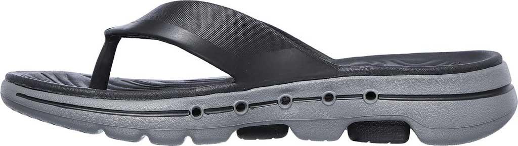 Men's Skechers Foamies GOwalk 5 Cabana Flip Flop, Charcoal, large, image 3