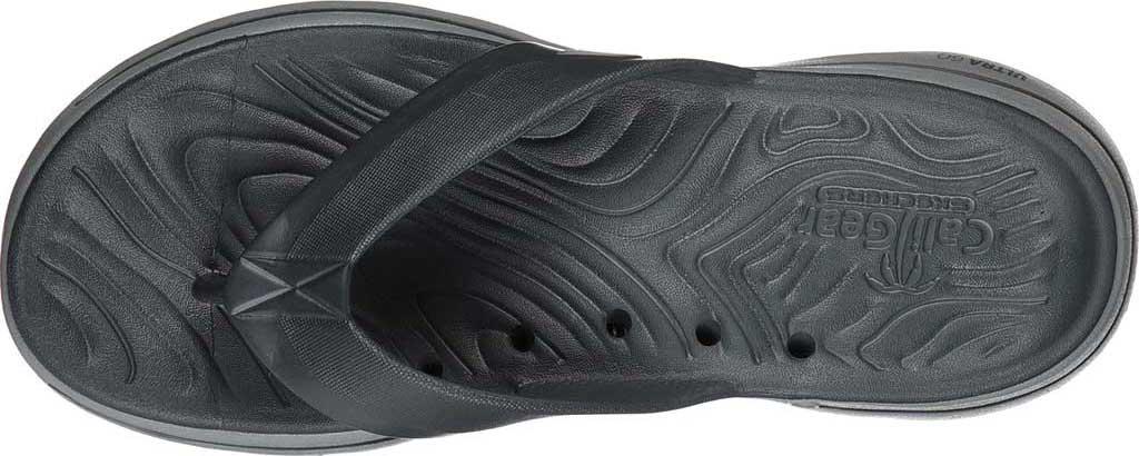 Men's Skechers Foamies GOwalk 5 Cabana Flip Flop, Charcoal, large, image 4