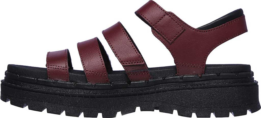 Women's Skechers Jammers Poppin' Strappy Sandal, Burgundy, large, image 3