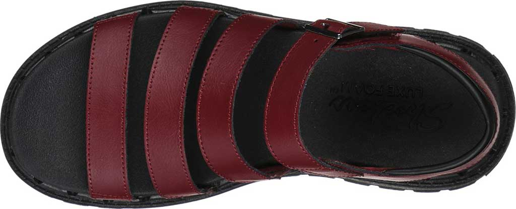 Women's Skechers Jammers Poppin' Strappy Sandal, Burgundy, large, image 4