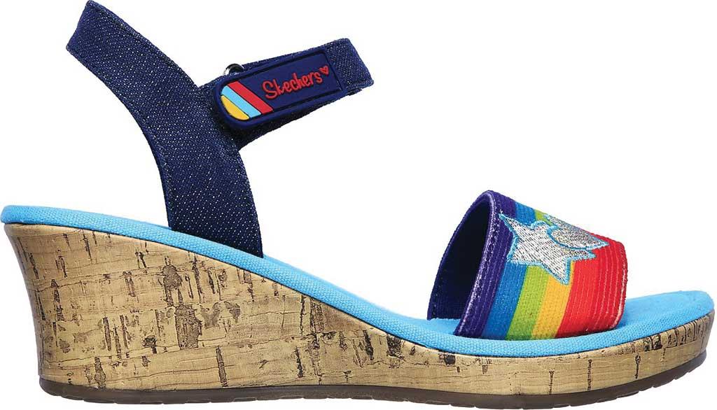 Girls' Skechers Tikis Toe-Tally Sweet Wedge Sandal, Blue/Multi, large, image 2