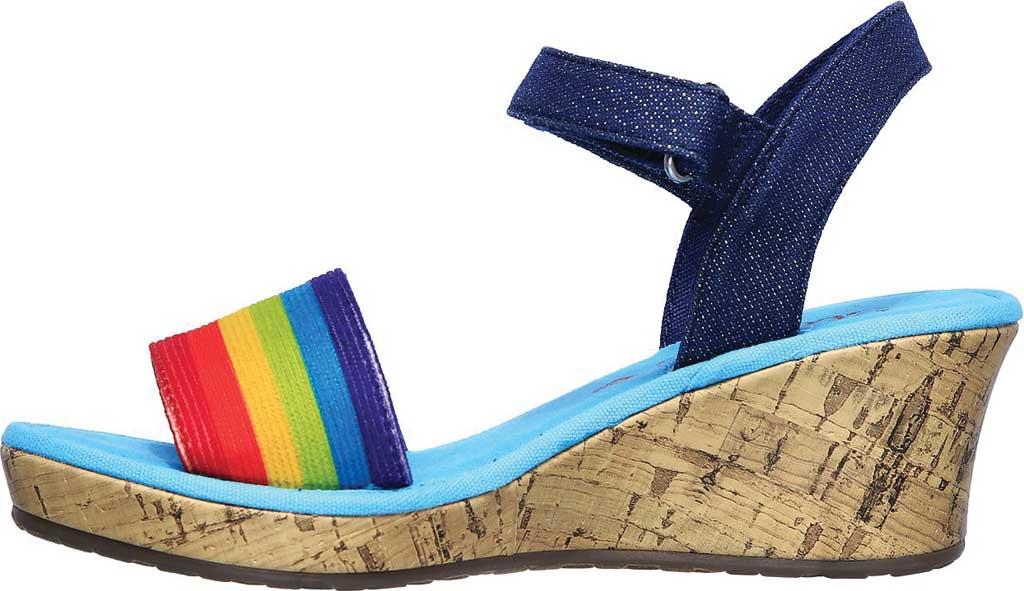 Girls' Skechers Tikis Toe-Tally Sweet Wedge Sandal, Blue/Multi, large, image 3