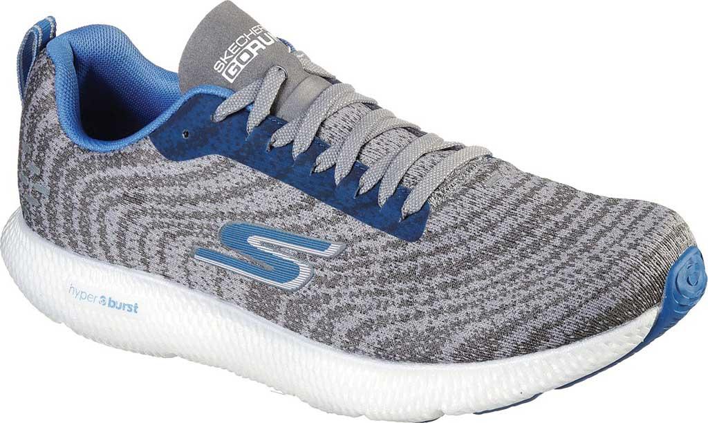 Men's Skechers GOrun 7+ Sneaker, Charcoal/Blue, large, image 1