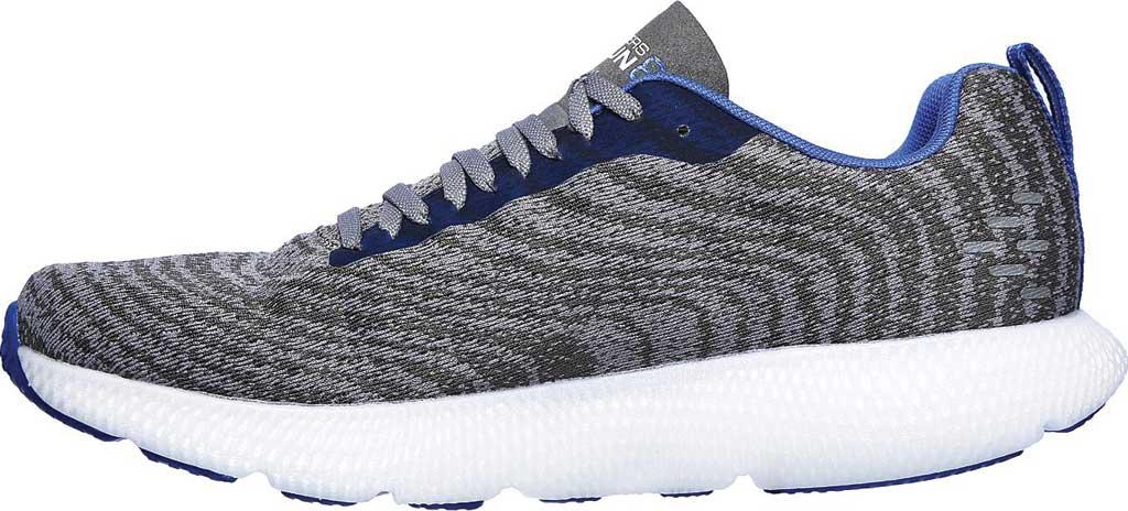Men's Skechers GOrun 7+ Sneaker, Charcoal/Blue, large, image 3