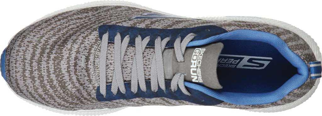 Men's Skechers GOrun 7+ Sneaker, Charcoal/Blue, large, image 4
