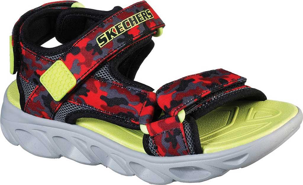 Boys' Skechers S Lights Hypno-Splash Sun Breaks Sport Sandal, Black/Red, large, image 1