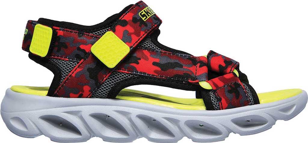 Boys' Skechers S Lights Hypno-Splash Sun Breaks Sport Sandal, Black/Red, large, image 2