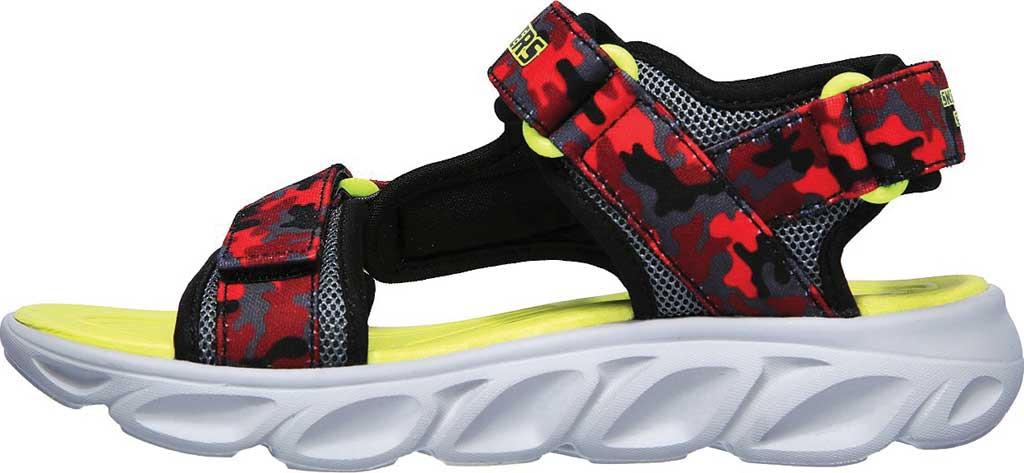Boys' Skechers S Lights Hypno-Splash Sun Breaks Sport Sandal, Black/Red, large, image 3