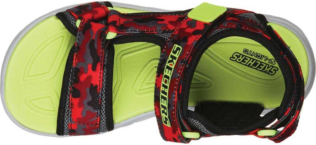 Boys' Skechers S Lights Hypno-Splash Sun Breaks Sport Sandal, Black/Red, large, image 4