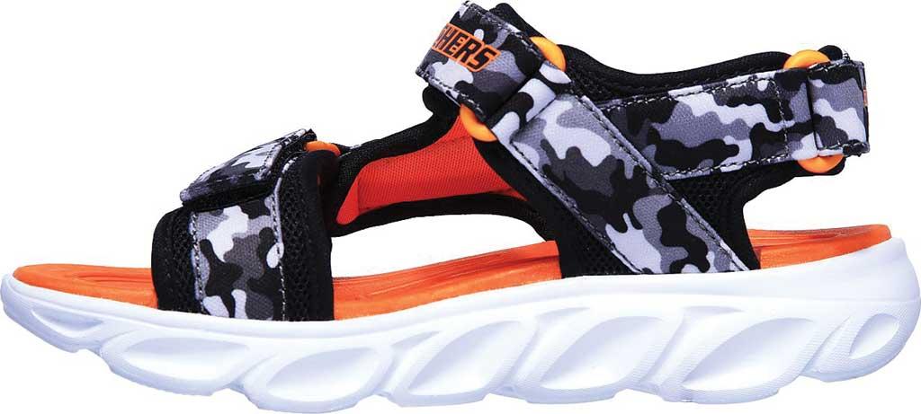 Boys' Skechers S Lights Hypno-Splash Sun Breaks Sport Sandal, Black/Gray/Orange, large, image 3